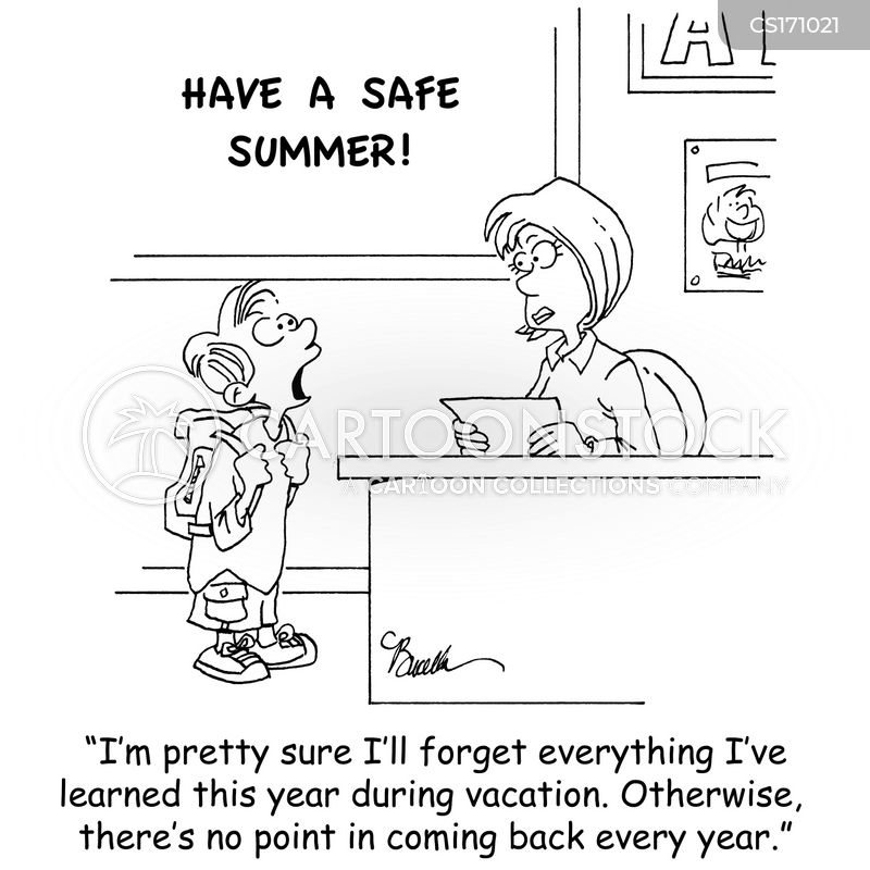 School Vacation Cartoon 1 Of 34