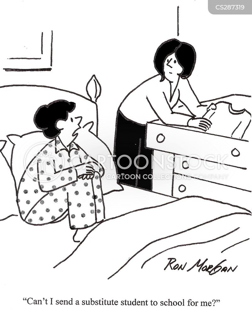 supply teacher cartoon