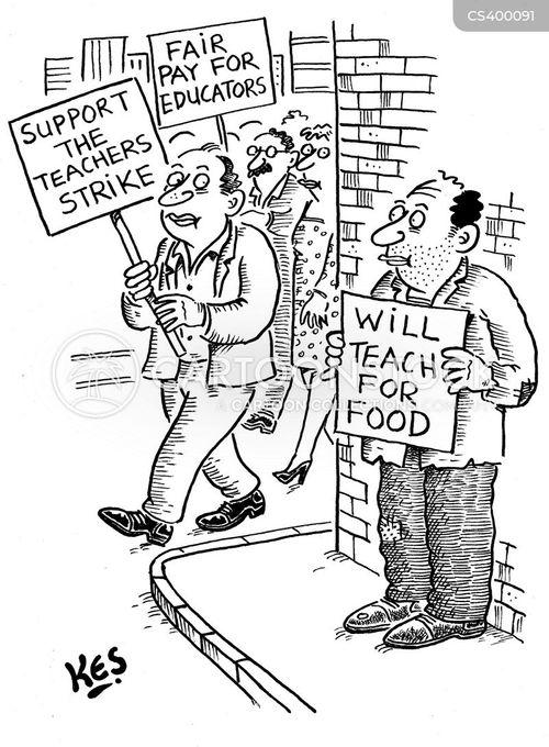 school closure cartoon