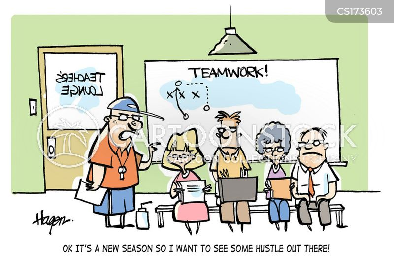 sports coach cartoon