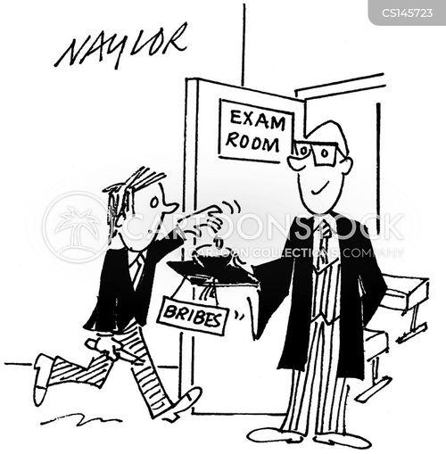 exam hall cartoon