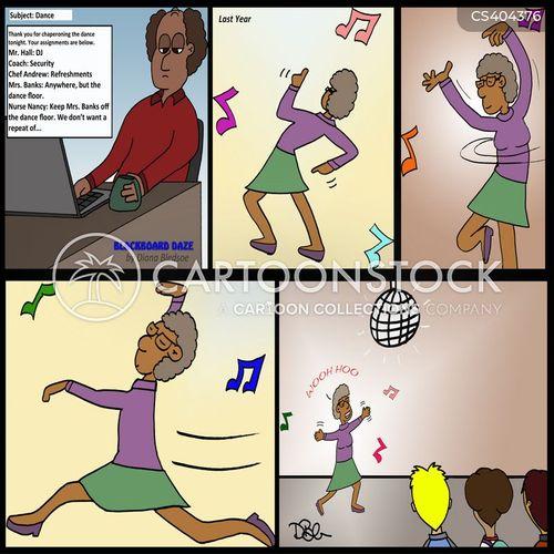 school dances cartoon