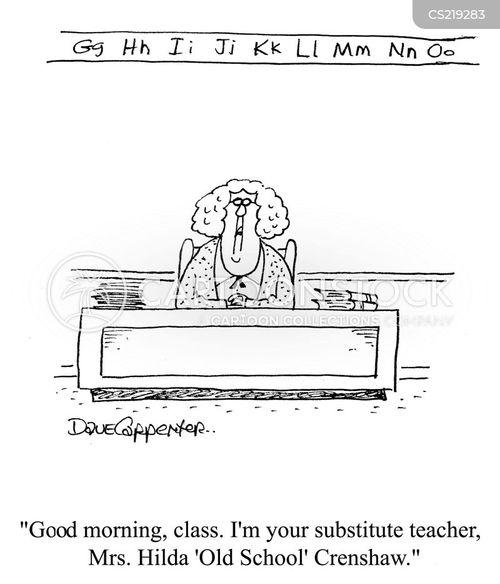 new teacher cartoon