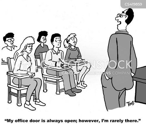 open office doors.  Open Throughout Open Office Doors