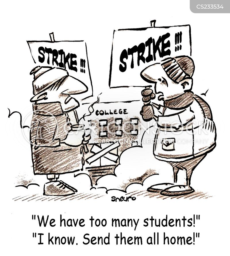 on strike cartoon