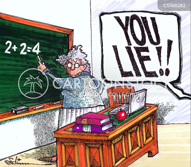 maths classes cartoon