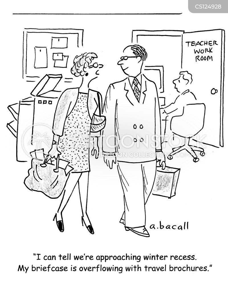 travel brochures cartoon