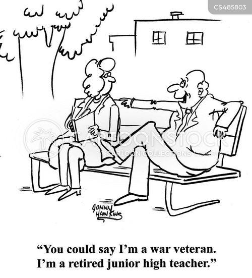retired teacher cartoon