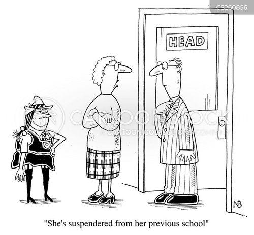 girls school cartoon