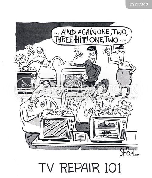 broken tv cartoon