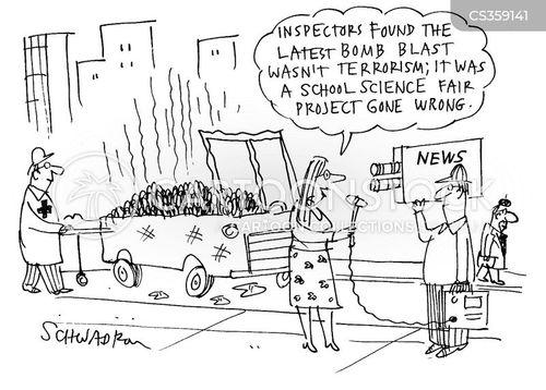science fair cartoon