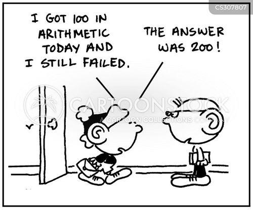 maths test cartoon