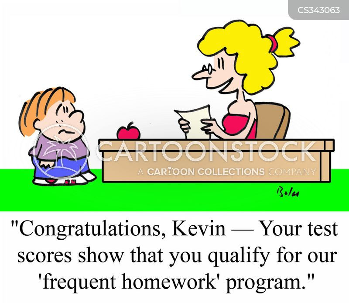 school works cartoon