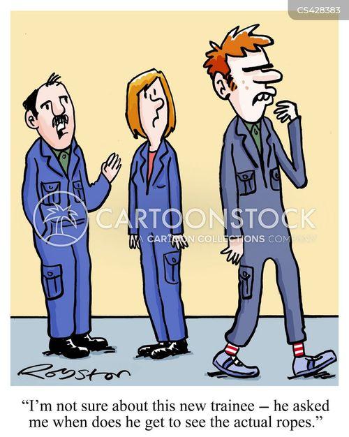 training scheme cartoon