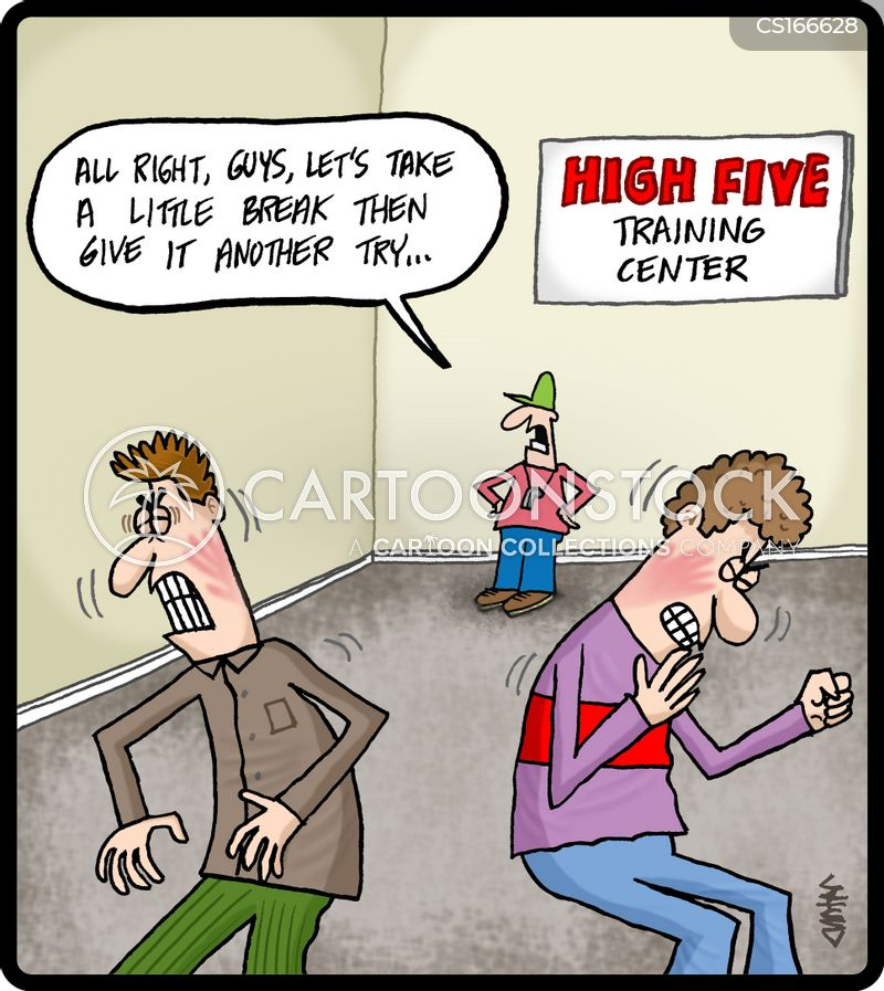 high-five cartoon