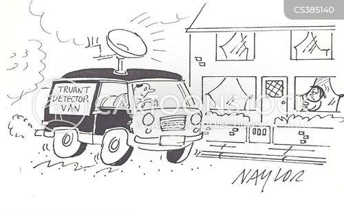 truancy officers cartoon