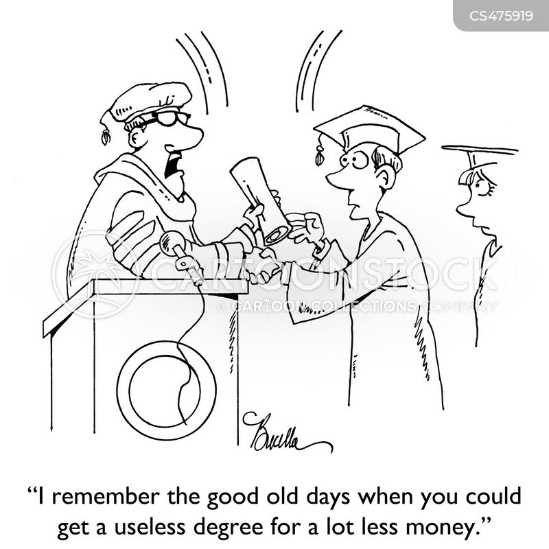 university tuitions cartoon