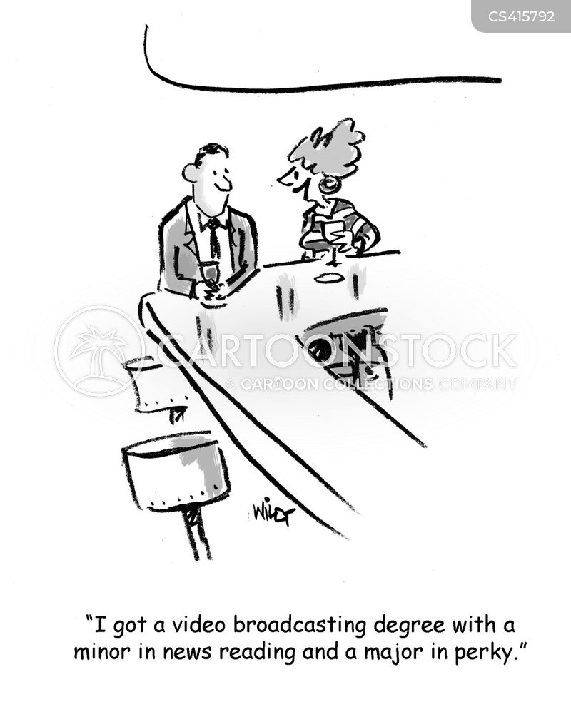 news readers cartoon