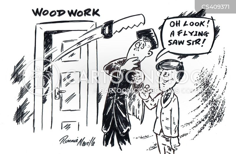 wood work cartoon