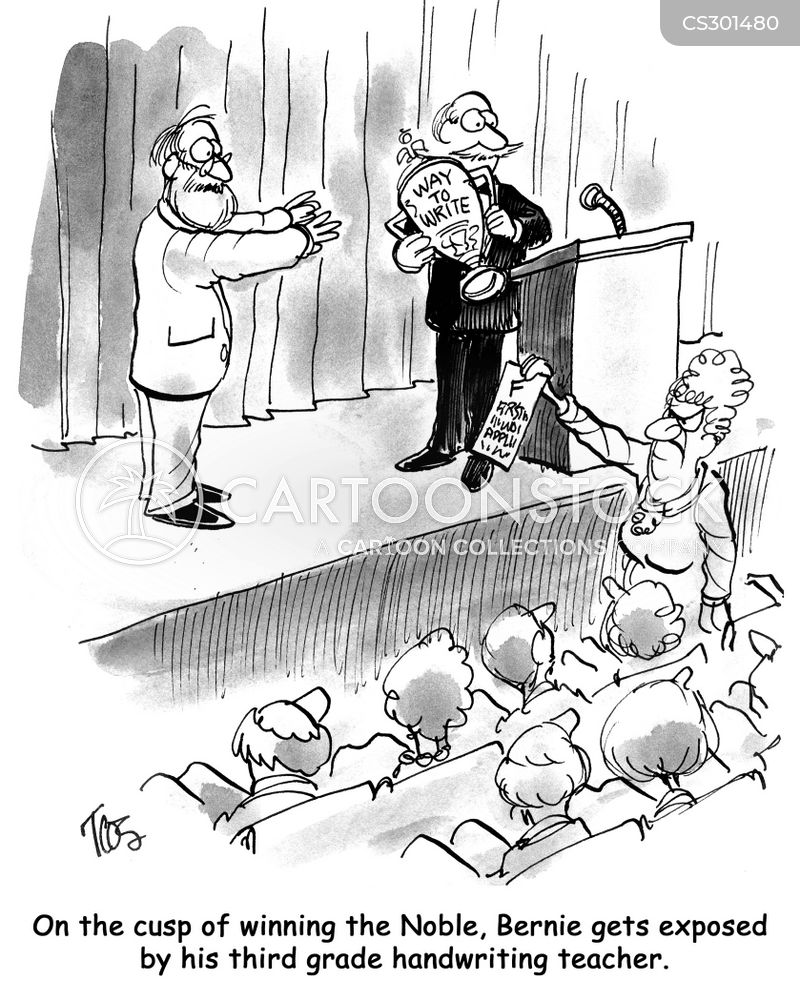 nobel literature prize cartoon