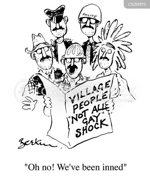 village people cartoon