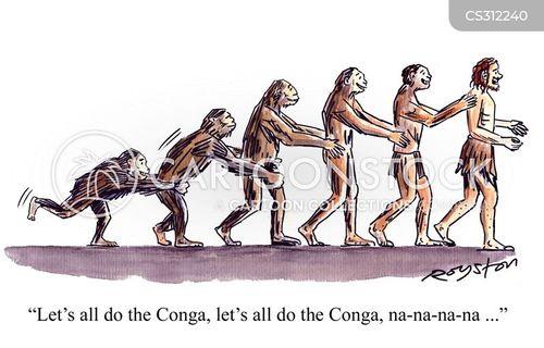 conga line cartoon