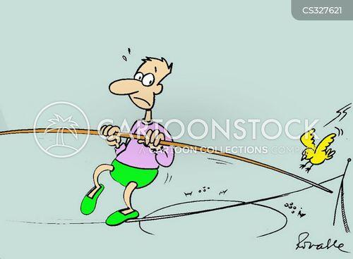 tightrope walking cartoon
