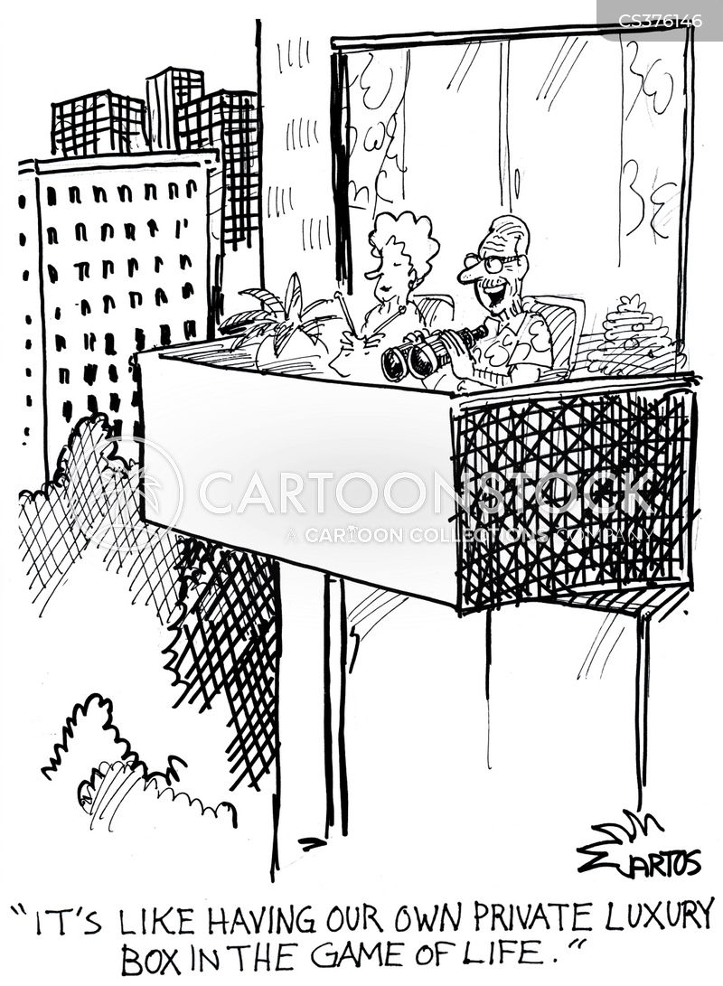 Observing cartoons and comics funny pictures from for Balcony cartoon