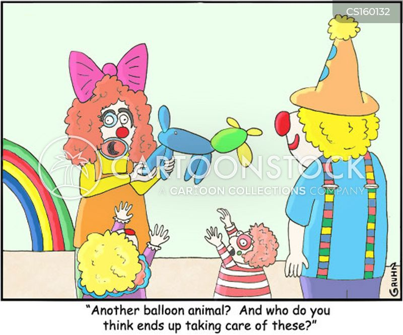 clowning about cartoon