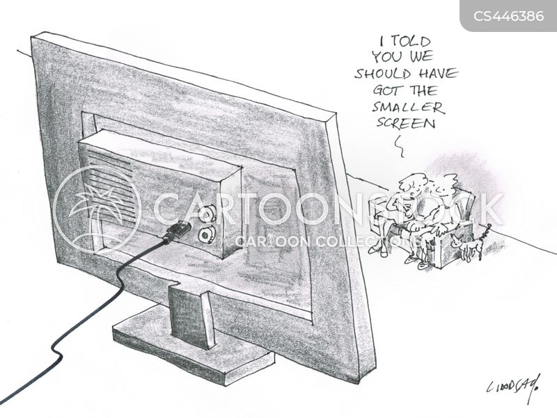 flat screens cartoon