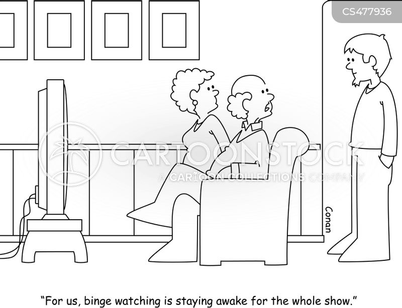 binge watcher cartoon
