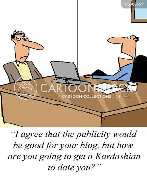 public profile cartoon