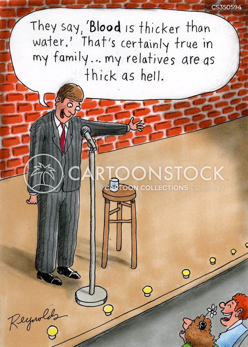 blood is thicker than water cartoon