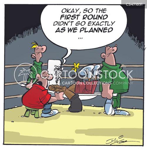 boxing round cartoon