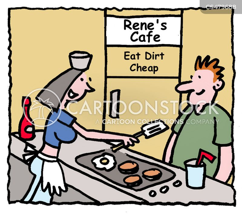cheap restaurants cartoon