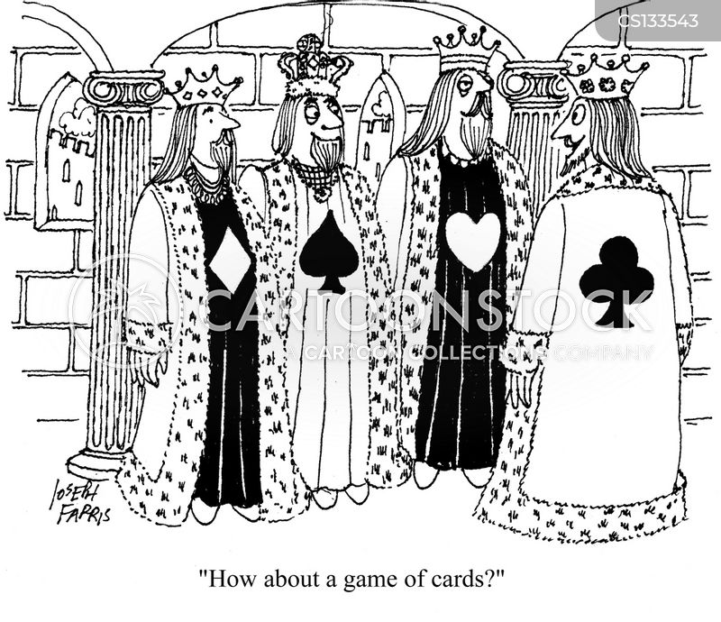 pack of cards cartoon