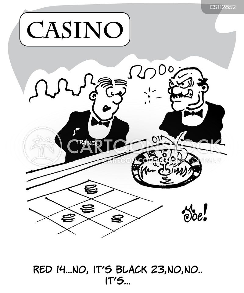 gambling table cartoon