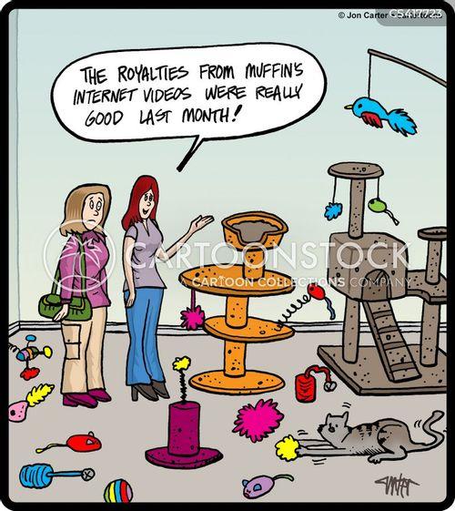 cat toy cartoon