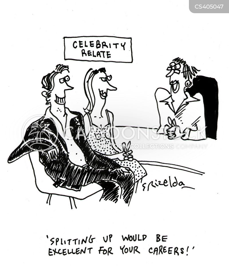 celebrity divorces cartoon