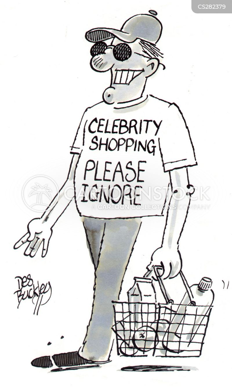 celebrity lifestyle cartoon