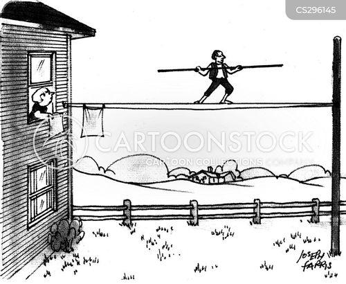 tight rope walkers cartoon