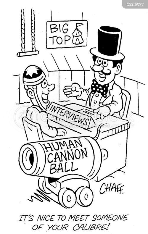 human cannon balls cartoon