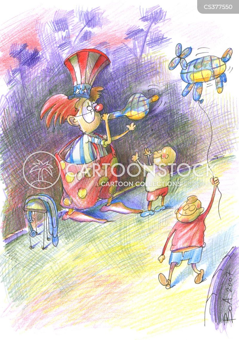 circus entertainers cartoon