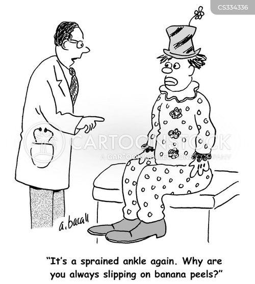 sprained ankle cartoon