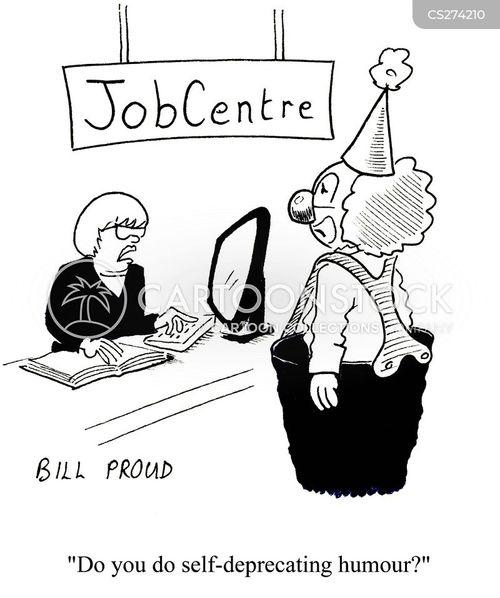 self-deprecating humor cartoon