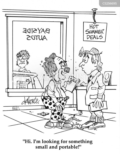 used car sales cartoon