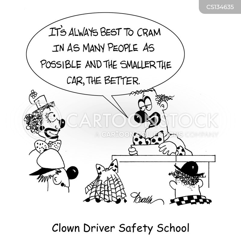 driver safety course cartoon