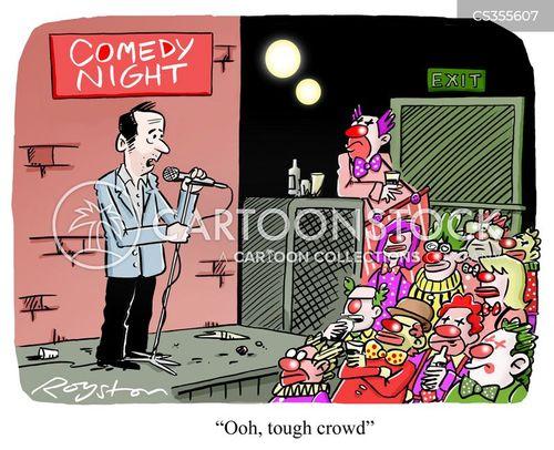 open mic cartoon