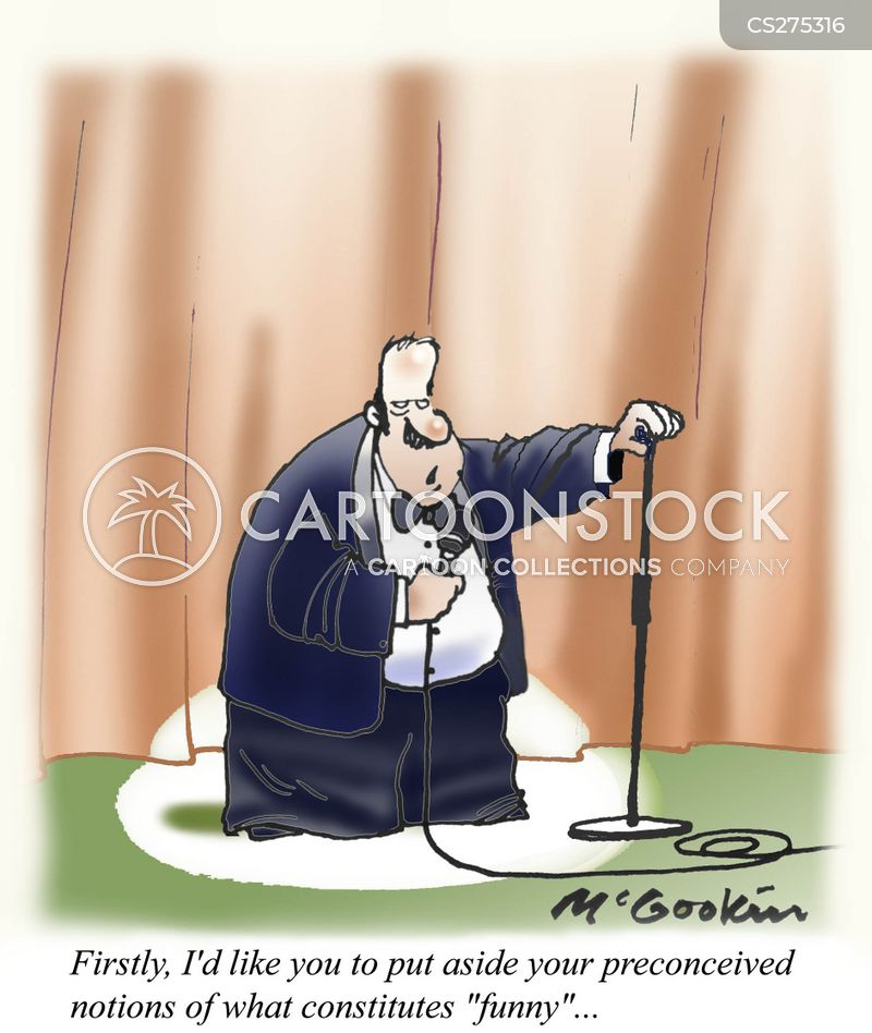 stand-up comedian cartoon