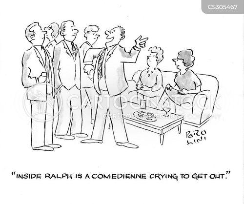 comediennes cartoon